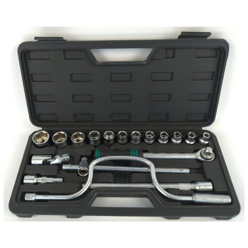 Набор торцевых головок Сервис ключ (18 предм.) 71553 серый набор инструмента сервис ключ 11017