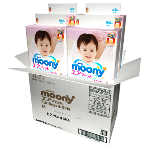 Moony подгузники M (6-11 кг) 248 шт.