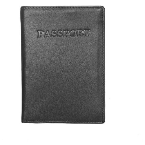 Обложка для паспорта A&M в фирменной подарочной коробке, 100% натуральная кожа, 5612bl