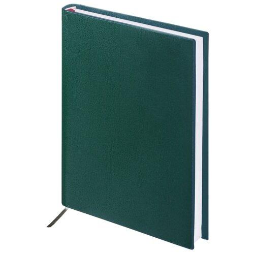 Купить Ежедневник BRAUBERG Select недатированный, искусственная кожа, А5, 160 листов, зеленый, Ежедневники, записные книжки
