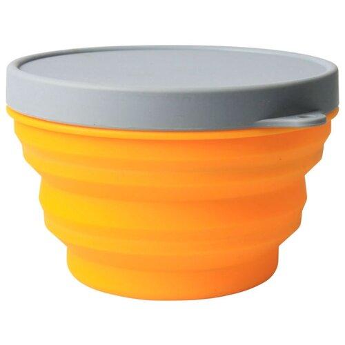 Миска ECOS CT063, 0.5 л серый/оранжевый