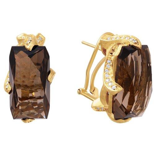 JV Серьги из золота с бриллиантами и топазами E13486-SQ-YG