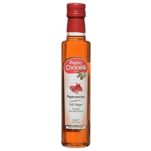 Pietro Coricelli Масло оливковое Extra Virgin Peperoncino, стеклянная бутылка 0.25 л