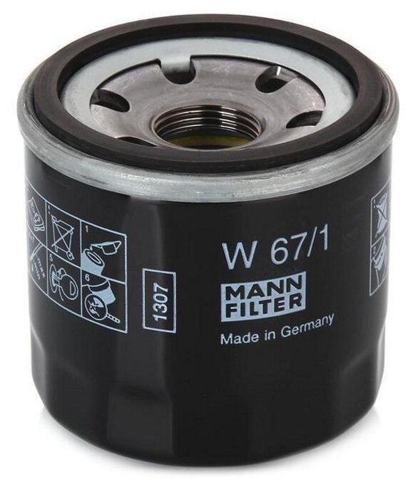 Масляный фильтр MANNFILTER W67/1