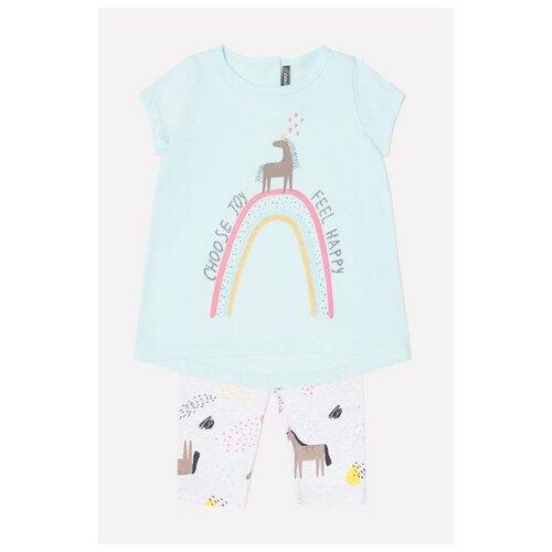 Купить Комплект одежды crockid размер 74, минт/светло-серый меланж, Комплекты