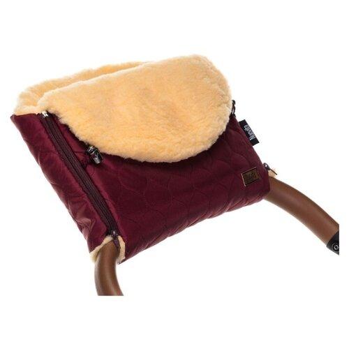 Купить Муфта меховая для коляски Nuovita Polare Pesco (Bordo/Бордовый), Аксессуары для колясок и автокресел