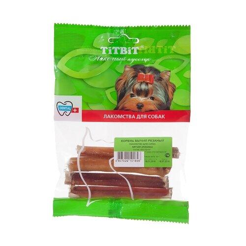 Лакомство для собак Titbit Корень бычий резаный, 5 шт. в уп.