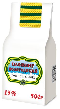 Мороженое Пломбир Вологодский 15%, 500 г