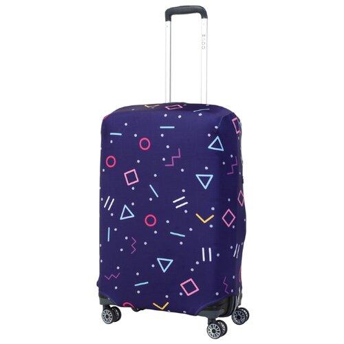 Чехол для чемодана METTLE Morz M, синий/красный/голубой/розовыйЧемоданы<br>