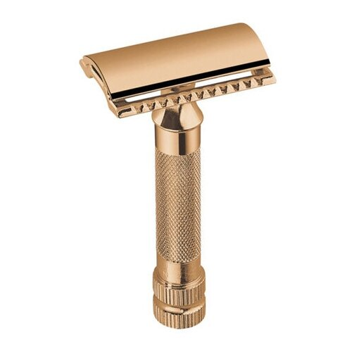 Станок Т-образный Dovo Merkur (безопасная бритва с закрытым гребнем + лезвие) золотистый