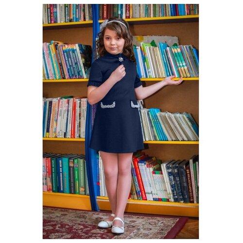 Купить Платье Ladetto 1С1 размер 30(2)-122, темно-синий, Платья и сарафаны