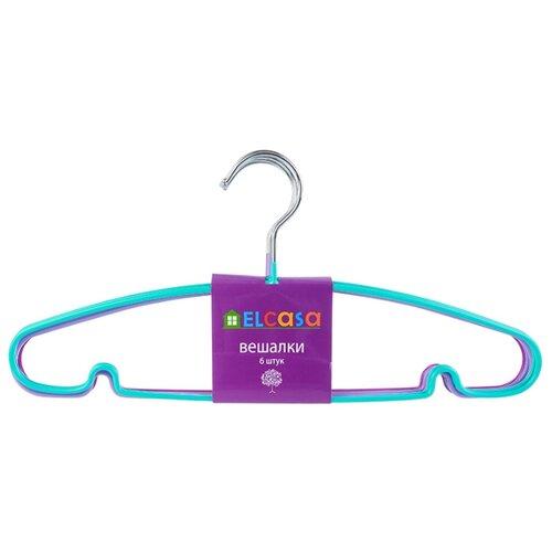 Вешалка EL CASA Набор c антискользящим покрытием Настроение фиолетовый/голубой/сиреневый цена 2017