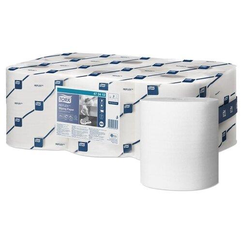 Купить Протирочная бумага в рулонах Tork Reflex (M4) ЦВ, 1 слойн., 111, 3м/рул, белый, 6шт.