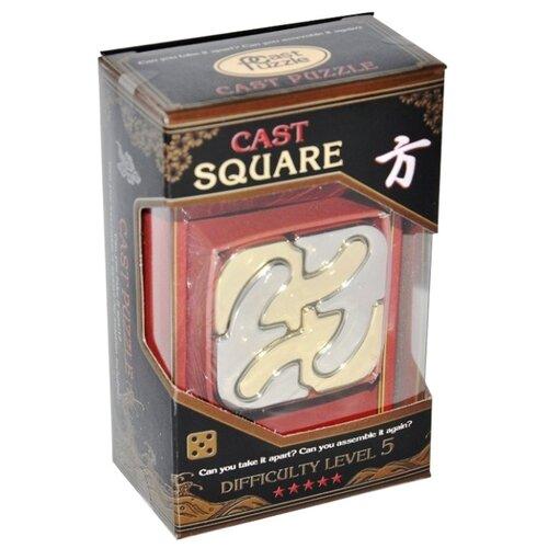 Головоломка Cast Puzzle Square, уровень сложности 5 (515092) серый/желтый головоломка cast puzzle mobius 55208 желтый