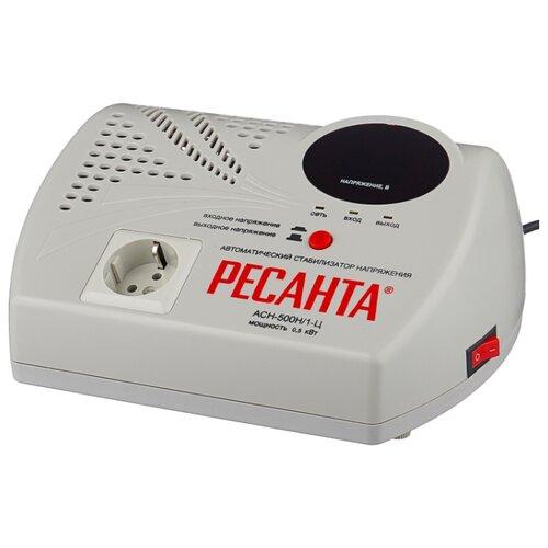 Стабилизатор напряжения однофазный РЕСАНТА LUX АСН-500Н/1-Ц (0.5 кВт)