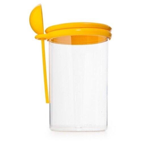 ПОЛИМЕРБЫТ Банка для сыпучих продуктов 4330600 0,7 л бесцветный/желтый банка для сыпучих продуктов loraine 0 5 л сердца