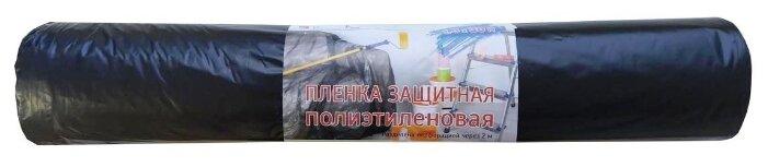 Пленка защитная для черновых работ ПВД 35 мкм, черная, 1,8х30 м. Виталюкс