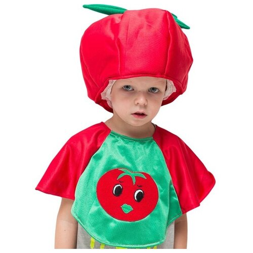 Купить Костюм Бока Помидор, зеленый/красный, размер 122-134, Карнавальные костюмы