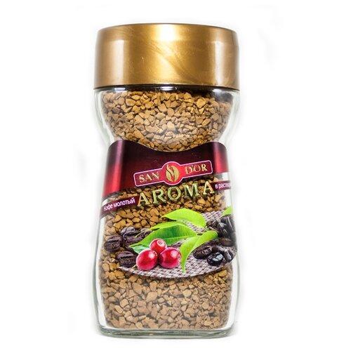 Кофе растворимый SAN D'OR Aroma сублимированный с добавлением натурального молотого, 95 г
