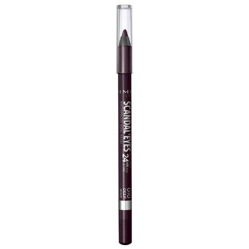 Rimmel Карандаш-кайал для глаз Scandaleyes Waterproof Kohl Kajal, оттенок 010 Deep wine max factor карандаш для глаз kohl pencil оттенок 060 ice blue