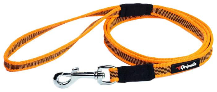 Поводок для собак Gripalle прорезиненный, стальная фурнитура черный 1.5 м 18 мм