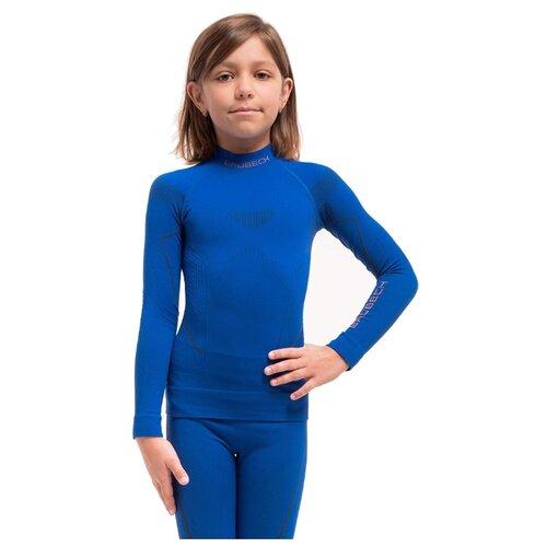 Термобелье для девочек Brubeck футболка с длинным рукавом THERMO кобальтовая 128-134