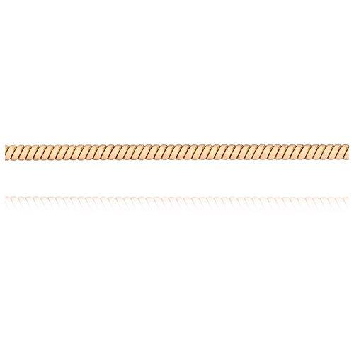 АДАМАС Цепь из золота плетения Панцирь одинарный ЦП135УКА1П-А51, 45 см, 4.27 г