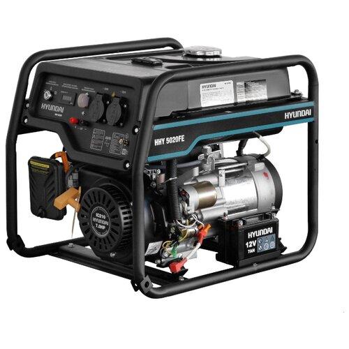 Бензиновый генератор Hyundai HHY 5020FE (4000 Вт) бензиновый генератор hyundai hhy 5020fe 230 в 4 5квт