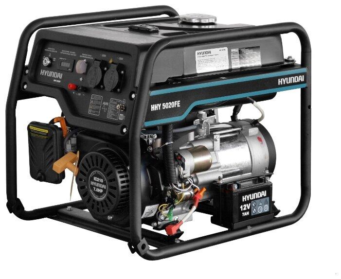 Бензиновый генератор Hyundai HHY 5020FE (4000 Вт)