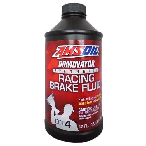 Тормозная жидкость AMSOIL DOMINATOR DOT 4 Synthetic Racing Brake Fluid 0.35 л