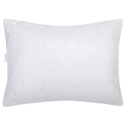 Подушка стеганная VESTA текстиль 50*70 см, искусственный лебяжий пух, ткань глосс-сатин, полиэстер 100%