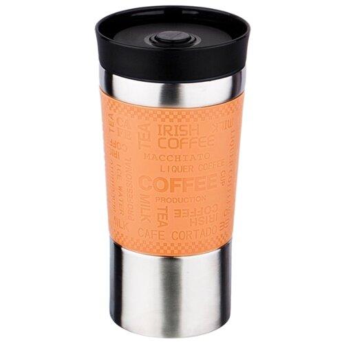 Термокружка Agness 709 (0,38 л) стальной/оранжевый термокружка agness 380 мл 709 065