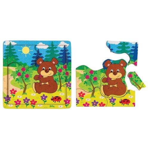 Пазл Step puzzle Baby Step Медвежонок (89068), 7 дет. пазл step puzzle park