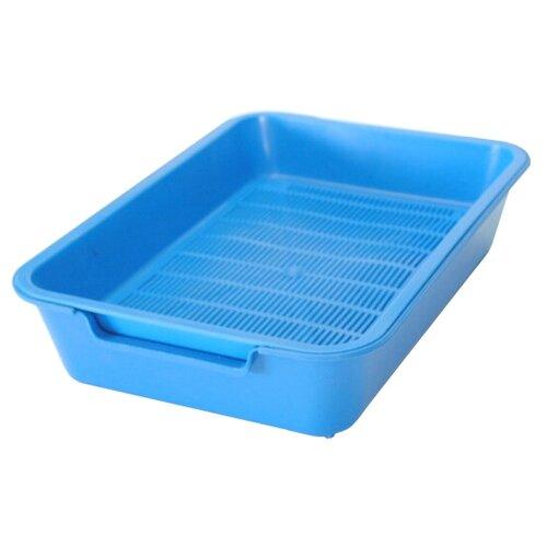 Туалет-лоток для кошек Homecat 3519509/3519547/3519486/3519561 37х27х8 см синий 1 шт.