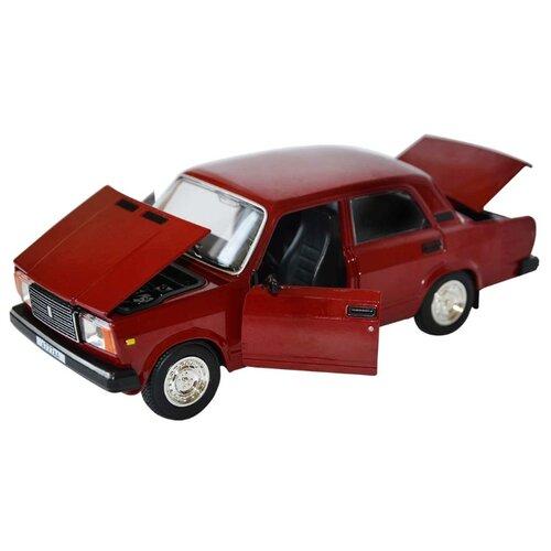 Легковой автомобиль Автопанорама ВАЗ 2107 1:24 красный легковой автомобиль автопанорама мировые легенды ваз 2104 1 24 бежевый