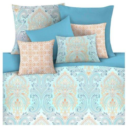 цена Постельное белье 1.5-спальное Mona Liza Dalilah 50 х 70 см сатин голубой онлайн в 2017 году