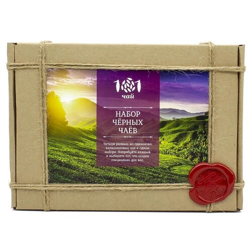 Чай черный 101 чай Набор черных чаев ассорти , 280 г фото