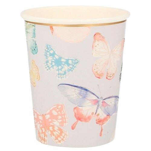 Стаканы Бабочка Meri Meri стаканы пастельные высокие meri meri