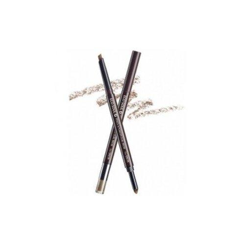 Купить The Saem карандаш Eco Soul Pencil & Powder Dual Brow, оттенок 04 medium brown