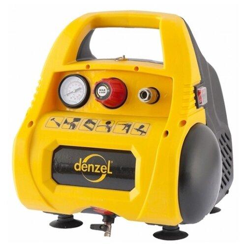 Компрессор безмасляный Denzel PC 1/6-180, 6 л, 1.1 кВт