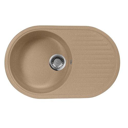Фото - Врезная кухонная мойка 73 см А-Гранит M-18 песочный врезная кухонная мойка 61 см а гранит m 09 песочный