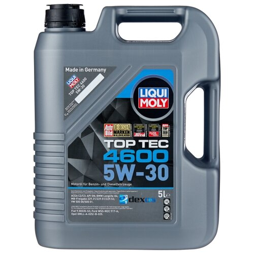 Фото - Полусинтетическое моторное масло LIQUI MOLY Top Tec 4600 5W-30 5 л полусинтетическое моторное масло liqui moly top tec 4200 diesel 5w 30 1 л
