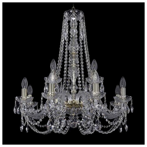 Фото - Люстра Bohemia Ivele Crystal 1406 1406/8+4/240/h-75/G, E14, 480 Вт люстра bohemia ivele crystal 1406 8 240 h 75 ni e14 320 вт