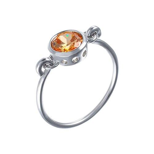 ELEMENT47 Кольцо из серебра 925 пробы с кубическим цирконием R150080C_KO_001_WG, размер 16