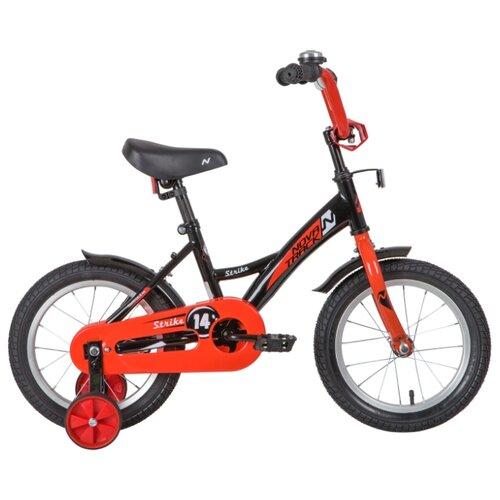 цена на Детский велосипед Novatrack Strike 14 (2020) черный/красный 10 (требует финальной сборки)