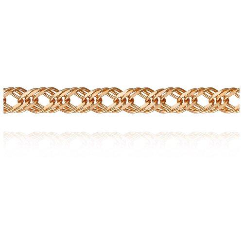 АДАМАС Цепь из золота плетения Ромб свободный двойной ЦРС340А2-А51, 45 см, 5.97 г