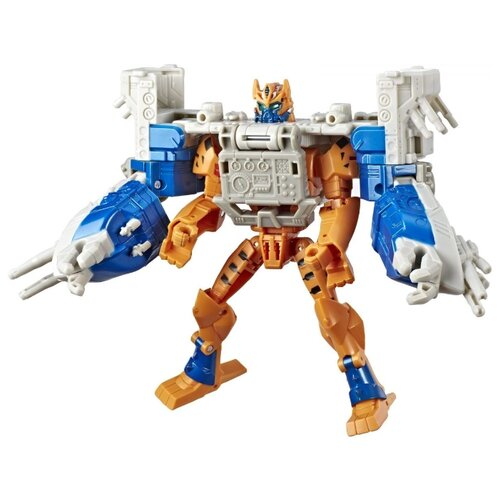 Трансформер Hasbro Transformers Читор и Си Фури. Spark Armor Elite Exclusive (Кибервселенная) E5559 оранжевый/белый/синий transformers игрушкатрансформер кибервселенная 10 см e1883