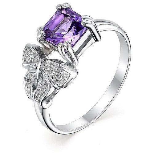 АЛЬКОР Кольцо с аметистом и фианитами из серебра 01-0473-00АМ-00, размер 17 алькор кольцо с 1 аметистом из серебра 01 0578 00ам 00 размер 17 5