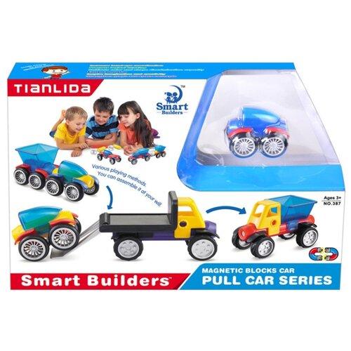 Магнитный конструктор Smart Builders Magnetic Blocks 387 library builders