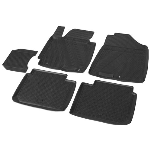 Комплект ковриков RIVAL 12802001 Kia Cerato 5 шт. черный